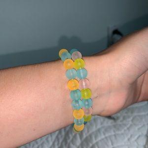 HAND MADE, 2 stretchy bracelets